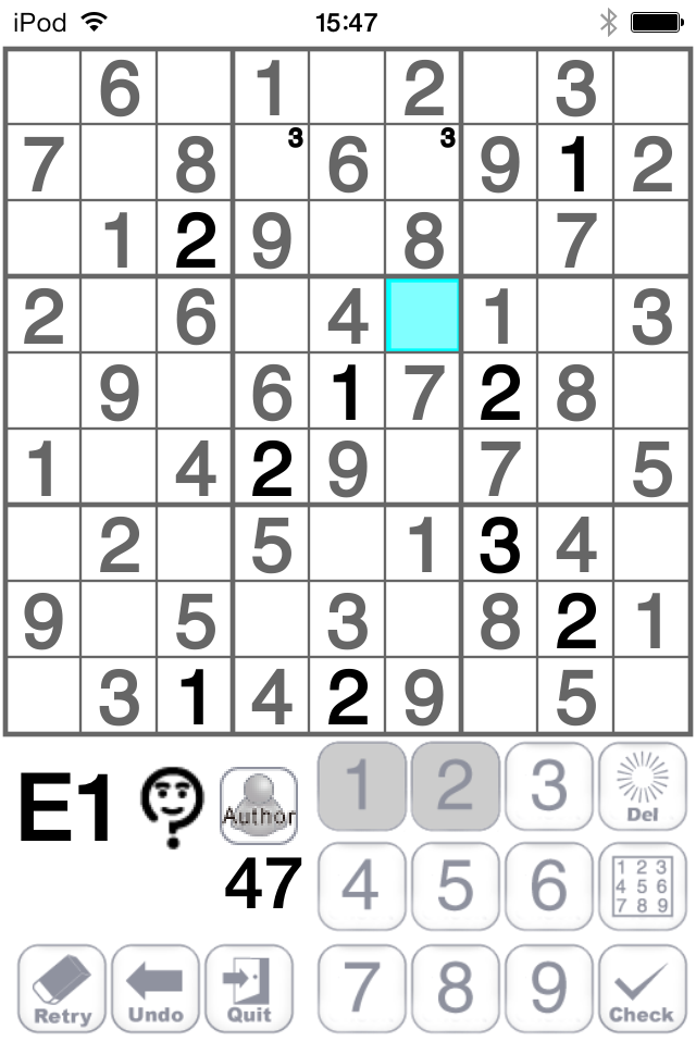 How to use the Sudoku iPhone Application